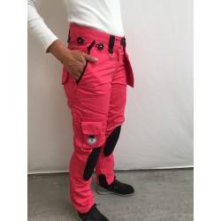 Pantalon de travail femme multipoches l'ARTISAN FRANÇAIS fushia
