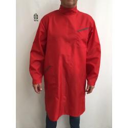 Blouse Manuel en nylon Rouge