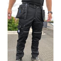 Pantalon de travail PXIII noir surpiqûres blanches LA COMPAGNIE EUROPÉENNE