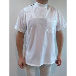 Blouse Patrice en nylon blanc