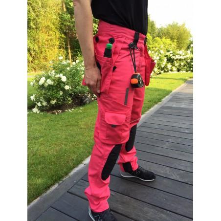 Pantalon femme multipoches PRO EXPERT II fushia