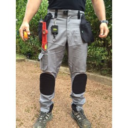 Pantalon de travail multipoches PRO EXPERT II gris