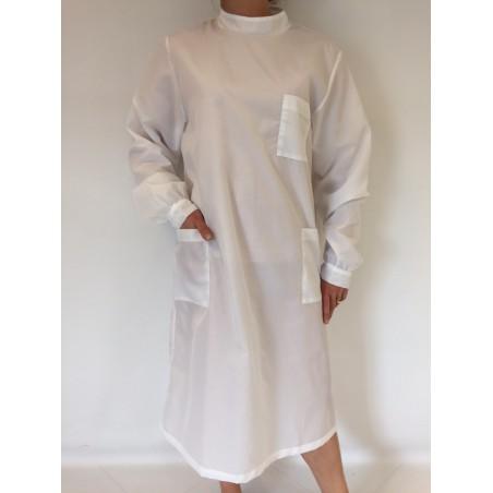Blouse Emeraude en nylon blanc