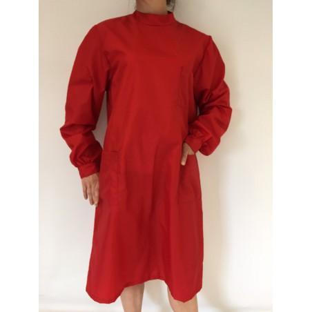 Blouse Emeraude en nylon rouge