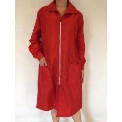 Blouse Marjolaine en nylon rouge