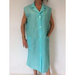 Blouse Amande en nylon turquoise