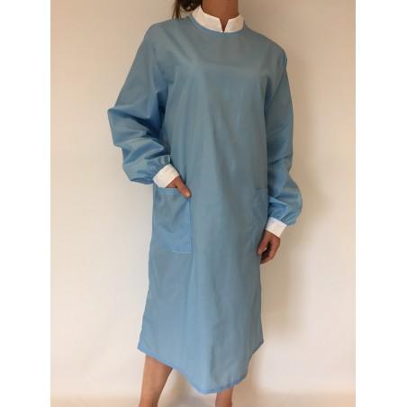 Blouse Safran en nylon bleu ciel