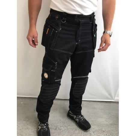 pantalon travail PXIII AGF noir L'ARTISAN BELGE