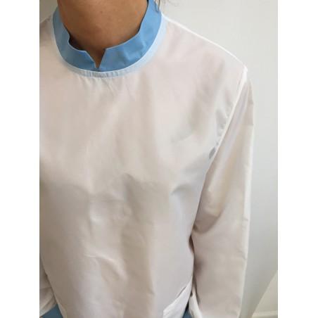 Blouse Safran en nylon Blanc