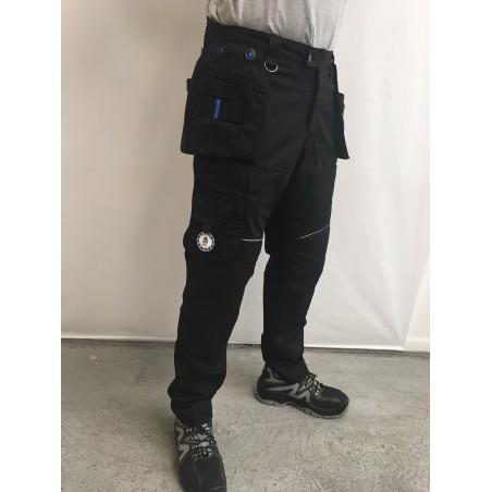 Pantalon de travail PXIII AGA noir surpiqûres noires LA COMPAGNIE EUROPEENNE