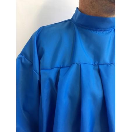 Peignoir de coiffeur en nylon Bleu Nattier