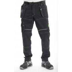 Pantalon de travail PXIII AGA noir surpiqûres blanches