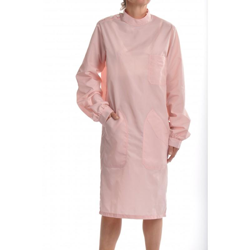 Blouse Angélique en nylon rose