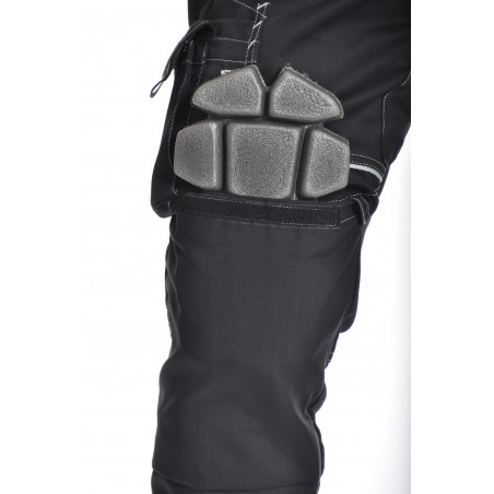 Pantalon de travail PXIII noir surpiqûres blanches L'ARTISAN FRANÇAIS