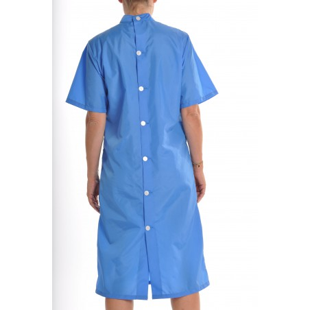 Blouse Jade en nylon bleu Nattier