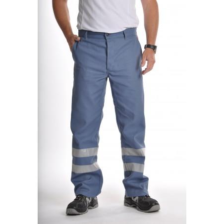 Pantalon de travail gris et orange