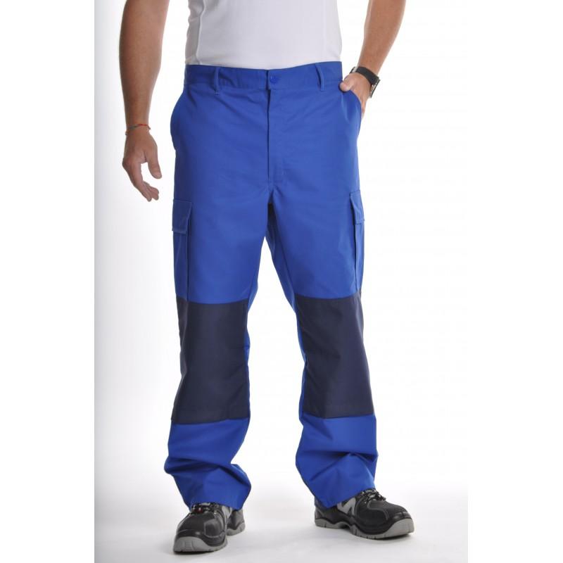 Pantalon de travail multipoches Bleu Bugatti