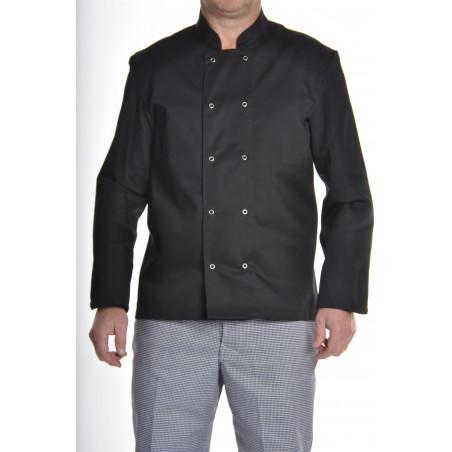 veste de cuisine noire pas cher