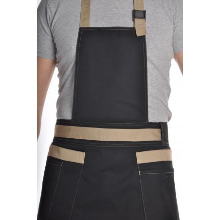 Tablier de cuisine mixte noir