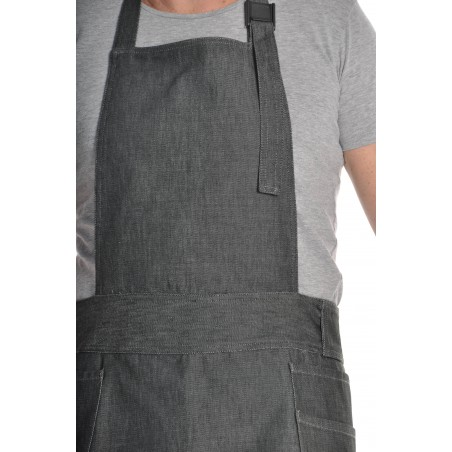 Tablier de cuisine mixte denim