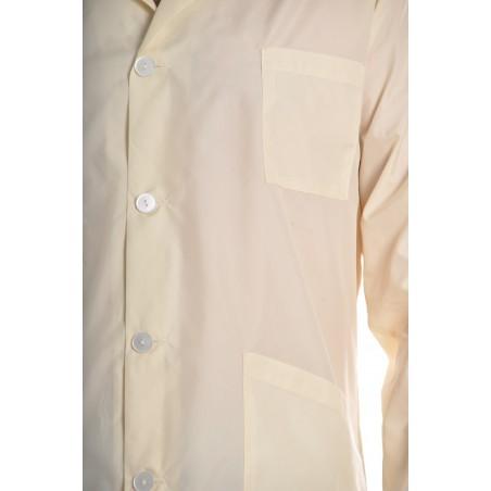 Blouse 0601 en nylon Blanc cassé