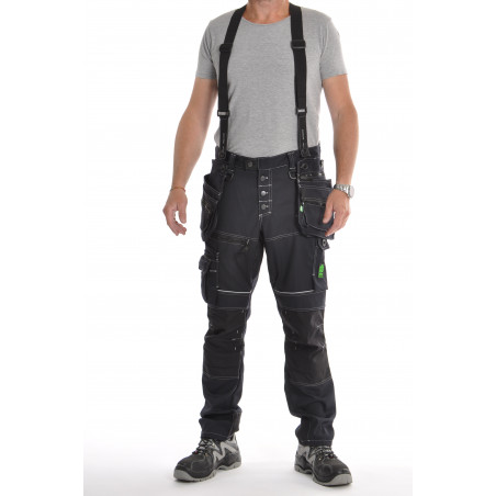 Pantalon de travail PXIV AGA marine avec bretelles