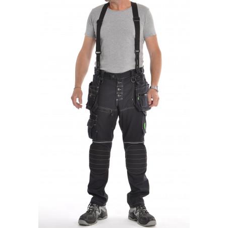 Pantalon de travail PXIV AGF Marine avec bretelles