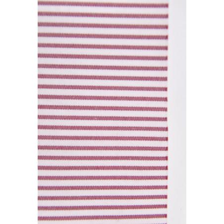Tissu 1225 VT2, Popeline, 200g/m², Rayé bordeaux et blanc