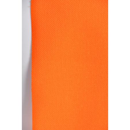 Tissu Croisé Retors, 100% coton, 330g/m², Orange
