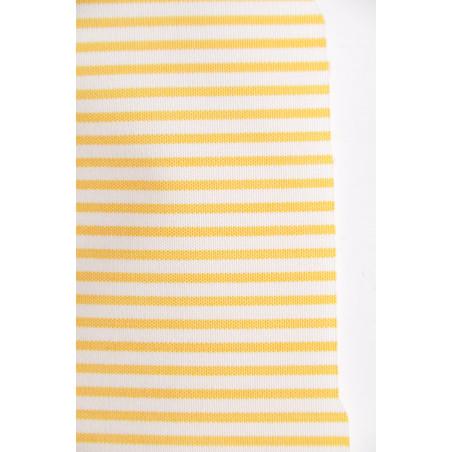 Tissu 1225 VT2, Popeline, 200g/m², Rayé jaune et blanc