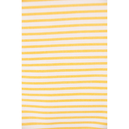 Tissu PROLIGNE, Popeline, 165g/m², Rayé jaune et blanc