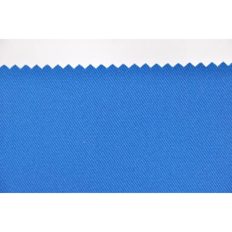 Tissu TOMBOY, Sergé majoritaire polyester, 245g/m², Bleu Azur