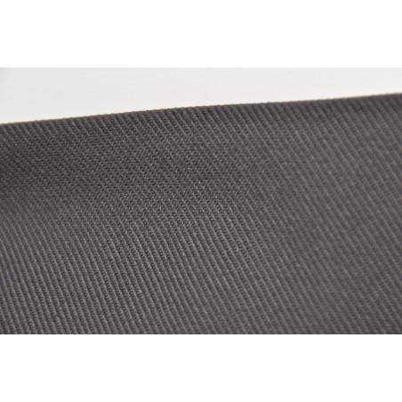 Tissu CHALLENGER, Croisé majoritaire coton, 315g/m², Gris charbon