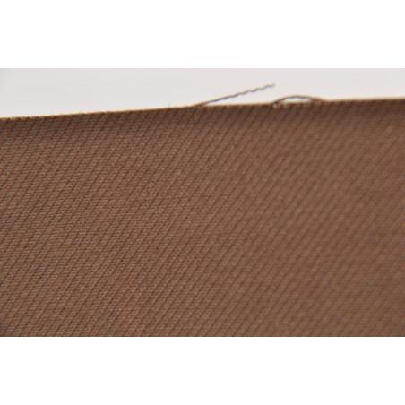 Tissu Croisé Simple, 100% coton, 305g/m², Marron