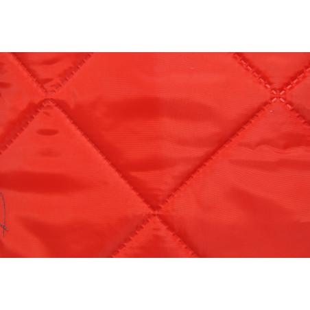 Matelassé sur Taffetas et Ouate, Simple face, Carré 10x10 Rouge