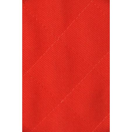 Matelassé fil, 2 épaisseurs tissu, Carré 3,5x3,5 Rouge