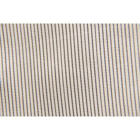 Tissu 09, Satin polyester, 95g/m², Beige rayé noir
