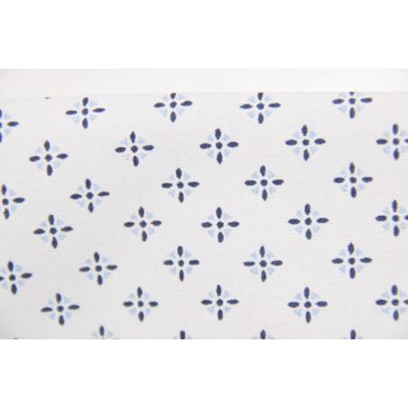 Tissu TD410BDXET, Imprimé, 140g/m², Blanc à motif