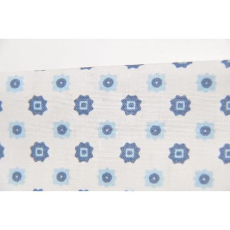 Tissu RENFORCE, Imprimé, 135g/m², Blanc à motif Square Gratté