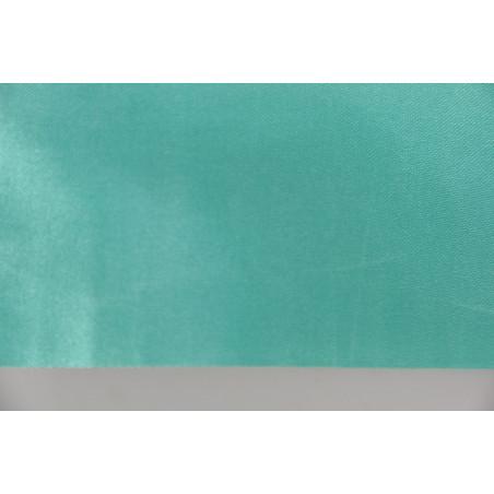 Tissu 09, Satin polyester, 95g/m², Vert lagon