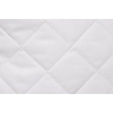 Matelassé fil sur tissu, Double face, Carré 5x5 Blanc