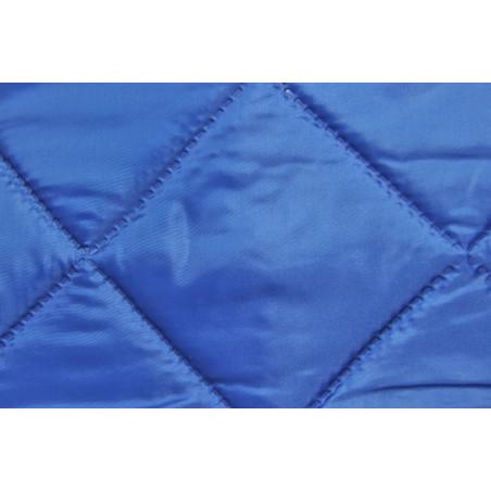 Matelassé sur Taffetas et Ouate, Simple face, Carré 10x10 Bleu saphir