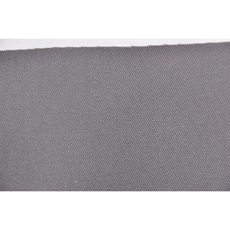 Tissu TOMBOY, Sergé majoritaire polyester, 245g/m², Gris taupe