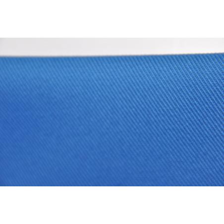 Tissu ATLAS, Croisé majoritaire coton, 315g/m², Bleu azur