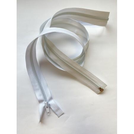Fermeture à glissière nylon séparable maille 6 blanche 140 cm