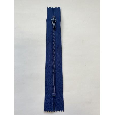 Fermeture à glissière nylon standard maille 6 bleue 17 cm