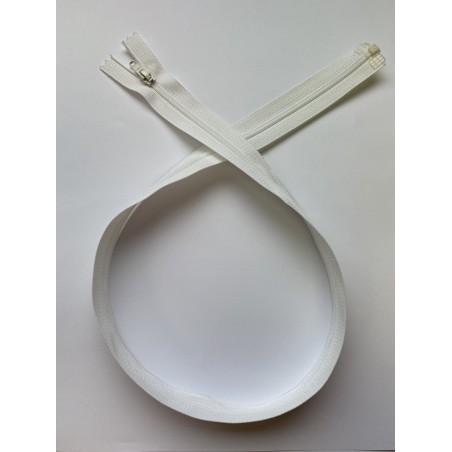 Fermeture à glissière nylon séparable maille 4 blanche 70 cm