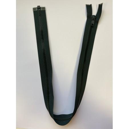 Fermeture à glissière injectée séparable maille 6 verte 60 cm