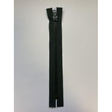 Fermeture à glissière injectée standard maille 4 verte 20 cm