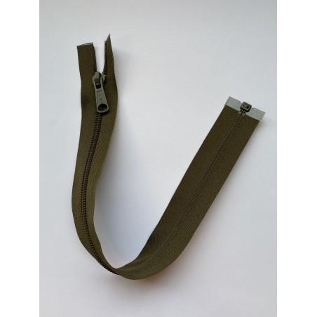 Fermeture à glissière nylon séparable maille 6 kaki 36 cm